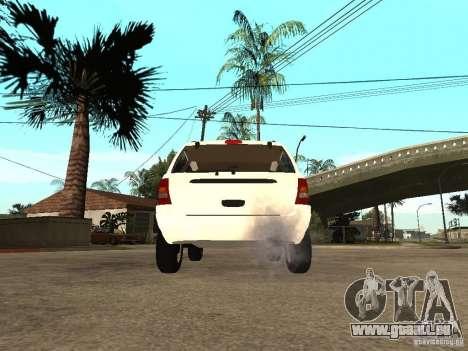 Jeep Grand Cherokee 99 pour GTA San Andreas sur la vue arrière gauche