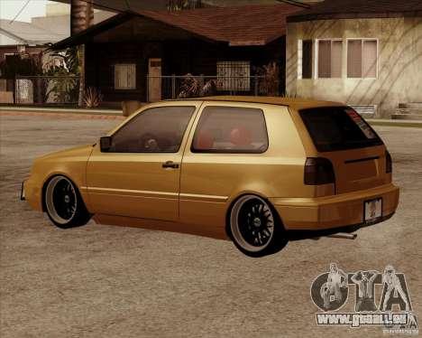 VW Golf MK 4 low & slow pour GTA San Andreas laissé vue