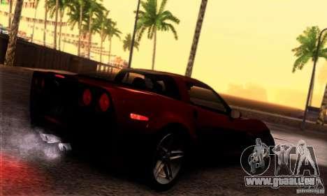 Chevrolet Corvette Z06 pour GTA San Andreas vue de droite