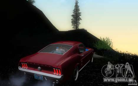Ford Mustang 1967 American tuning pour GTA San Andreas vue de droite