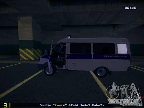Gazelle 2705 Polizei für GTA San Andreas rechten Ansicht
