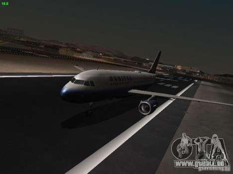 Airbus A319 United Airlines für GTA San Andreas linke Ansicht
