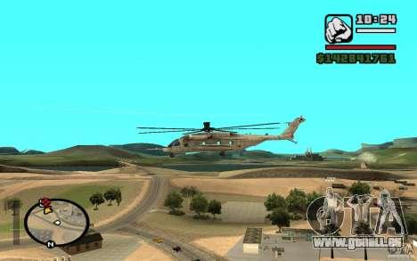 Sikorsky MH-53 avec trappe fermée pour GTA San Andreas vue de droite