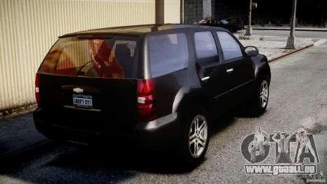 Chevrolet Tahoe 2007 für GTA 4 Unteransicht