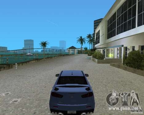 Mitsubishi Lancer Evo X für GTA Vice City zurück linke Ansicht