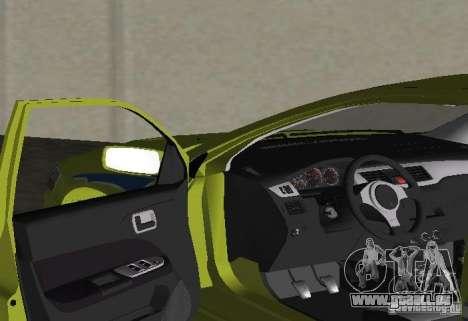 Mitsubishi Lancer Evolution VII für GTA Vice City Rückansicht