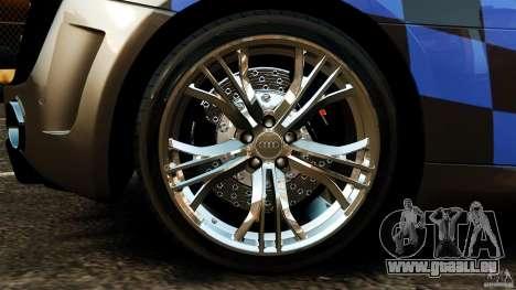 Audi R8 GT Spyder 2012 pour GTA 4 est une vue de l'intérieur