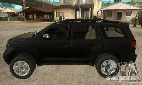 Toyota Sequoia pour GTA San Andreas laissé vue