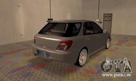 Subaru Impreza WRX Wagon für GTA San Andreas zurück linke Ansicht