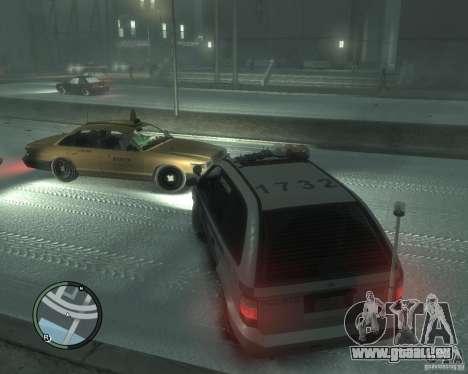 LCPD Minivan für GTA 4 hinten links Ansicht
