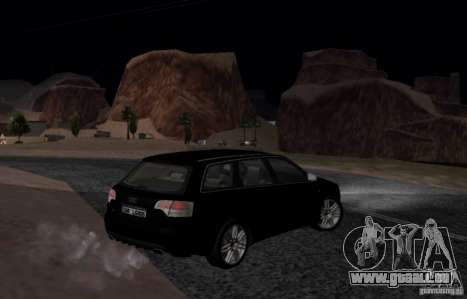 Audi S4 Avant pour GTA San Andreas vue arrière
