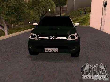 Toyota Hilux SRV 3.0 4X4 Automatica für GTA San Andreas Rückansicht