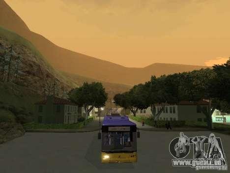 Trolleybus LAZ e-183 für GTA San Andreas rechten Ansicht