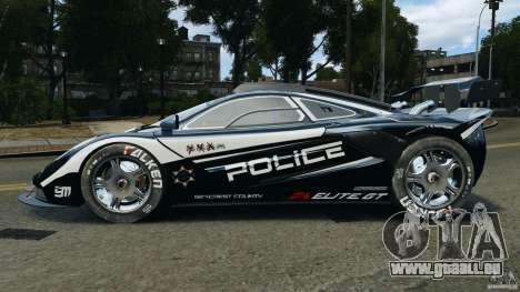 McLaren F1 ELITE Police [ELS] pour GTA 4 est une gauche