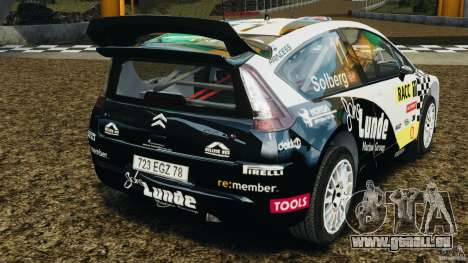 Citroen C4 WRC pour GTA 4 Vue arrière de la gauche