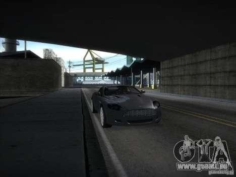 Aston Martin DB9 pour GTA San Andreas sur la vue arrière gauche