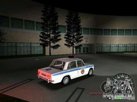 VAZ 2101 Police pour GTA Vice City vue arrière