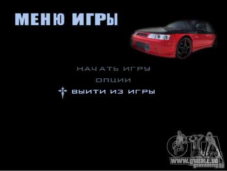 Le nouveau menu du jeu pour GTA San Andreas sixième écran