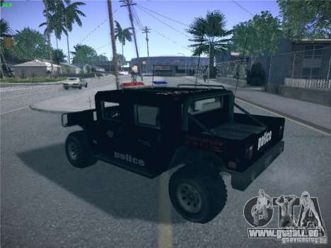 Hummer H1 1986 Police für GTA San Andreas linke Ansicht