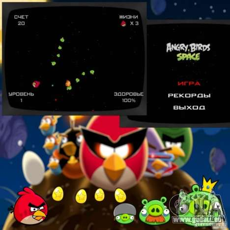 Angry Birds Space v1.0 pour GTA San Andreas