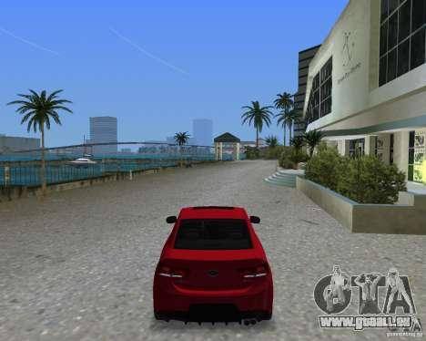 Kia Forte Coupe pour une vue GTA Vice City de la gauche