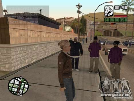 Lucy Stillman in Assassins Creed Brotherhood für GTA San Andreas her Screenshot
