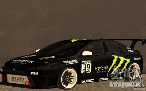 Mitsubishi Lancer Evolution X Monster Energy pour GTA San Andreas
