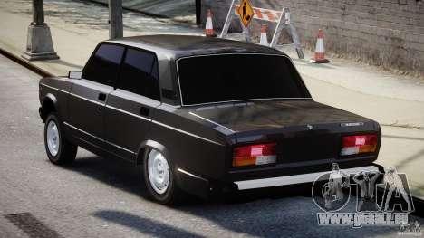 VAZ-2107 Avtosh style pour GTA 4 Vue arrière de la gauche
