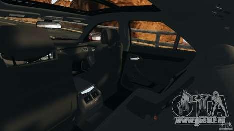 Cadillac CTS-V 2009 pour GTA 4 est une vue de l'intérieur