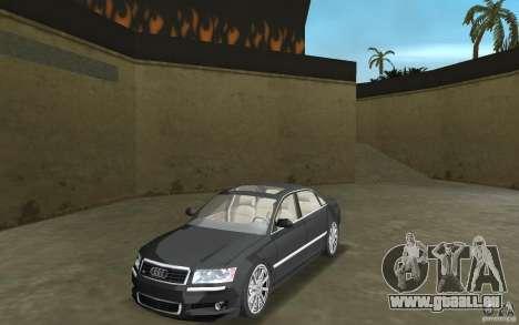 Audi A8 pour une vue GTA Vice City de la gauche