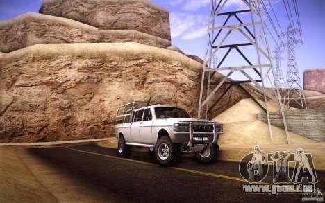 GAZ 2402 4 x 4 PickUp für GTA San Andreas obere Ansicht