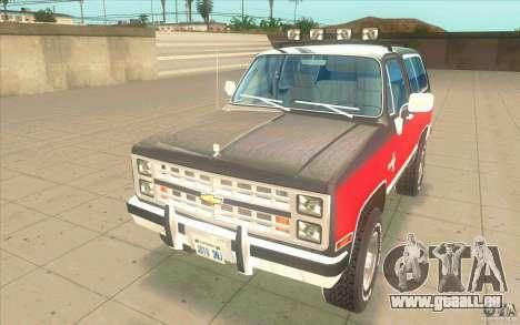 Chevrolet Blazer K5 Stock 1986 für GTA San Andreas