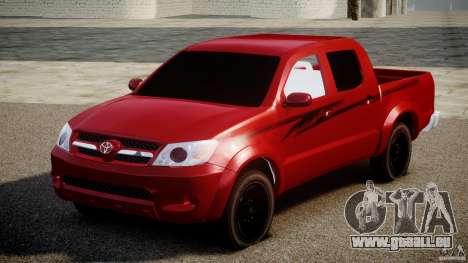 Toyota Hilux 2010 pour GTA 4 Vue arrière