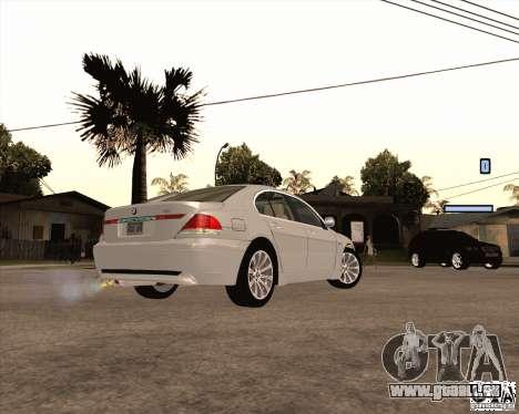 BMW 760i für GTA San Andreas linke Ansicht