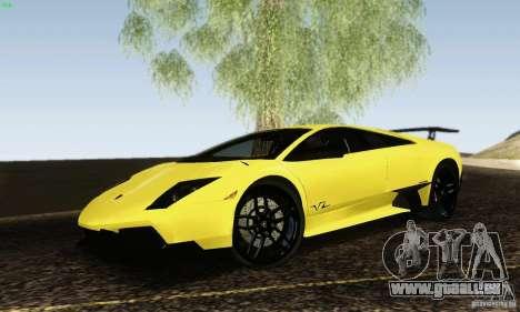 Lamborghini Murcielago LP 670-4 SV pour GTA San Andreas laissé vue