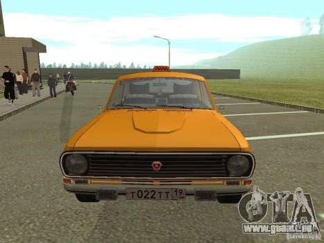 24-10 GAZ Volga Taxi für GTA San Andreas Rückansicht