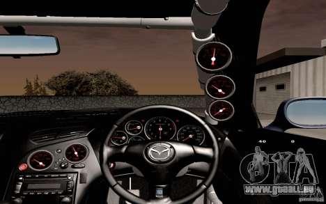 Mazda RX-7 Hellalush für GTA San Andreas obere Ansicht
