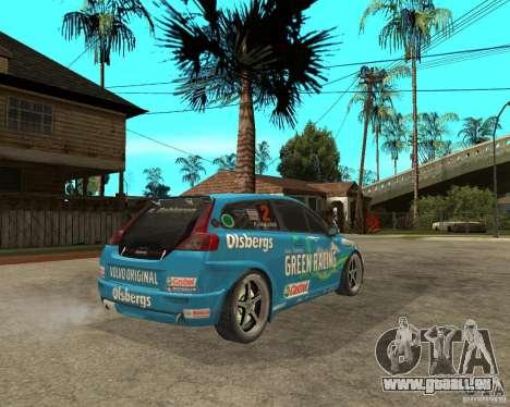 VOLVO C30 STCC für GTA San Andreas zurück linke Ansicht
