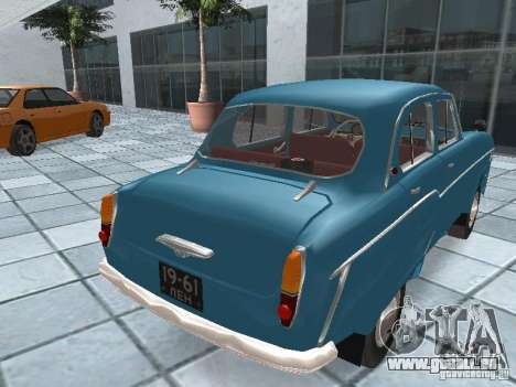 Moskvich 403 für GTA San Andreas zurück linke Ansicht