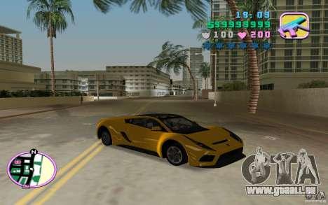 Saleen S5S Raptor pour GTA Vice City sur la vue arrière gauche
