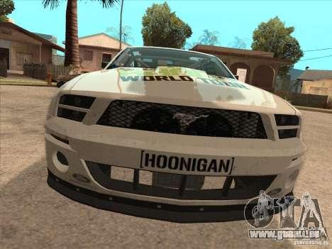 Ford Mustang Ken Block für GTA San Andreas rechten Ansicht