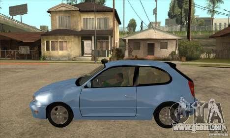 Toyota Corolla G6 Compact E110 US pour GTA San Andreas laissé vue