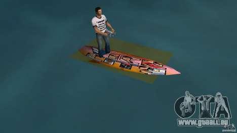 Surfboard 1 pour une vue GTA Vice City de la gauche