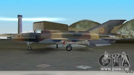 MiG 21 LanceR A pour GTA Vice City sur la vue arrière gauche