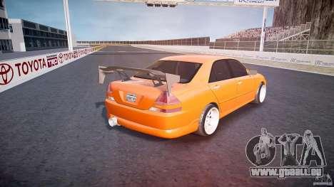 Toyota JZX110 pour GTA 4 vue de dessus