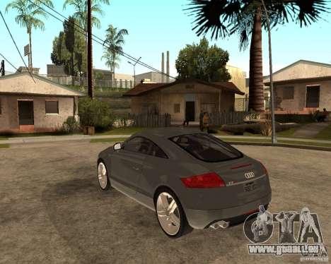 Audi TTS Coupe V1.1 pour GTA San Andreas sur la vue arrière gauche