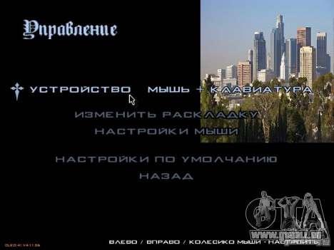 Nouveau menu dans le style de Los Angeles pour GTA San Andreas troisième écran