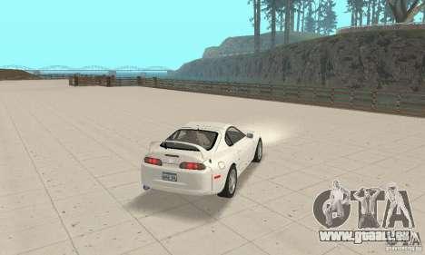 Toyota Supra 1998 stock pour GTA San Andreas laissé vue