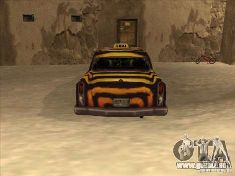 Cabine de zèbre de Vice City pour GTA San Andreas vue de droite