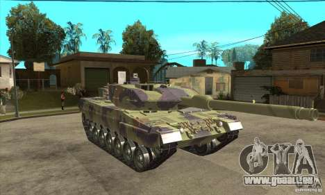 Leopard 2 A6 pour GTA San Andreas vue arrière